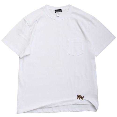 "QUOLT / クオルト | "" PANTHER TEE "" ワンポイント刺繍ポケットTシャツ / white"