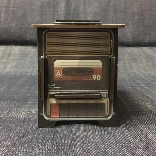 カセットプレーヤー型ペンスタンド