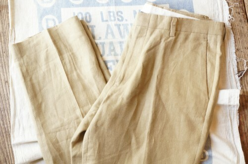 J.CREW brown beige Irish-linen Pants