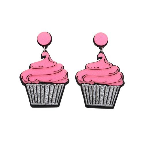 IUHA 【ユニークシリーズ】アイスクリームモチーフのピアス 可愛い耳飾り 個性的 パーティー プレゼント   iuha1991710022