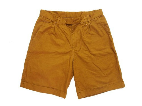 WASHED WIDE PIKE SHORTS BRN  (ARCHIVE)