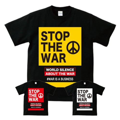 STOP THE WAR(T-SHIRT) ブラック
