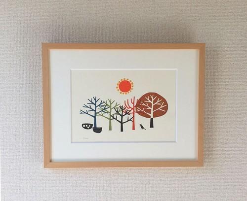 original print / les arbres(2)
