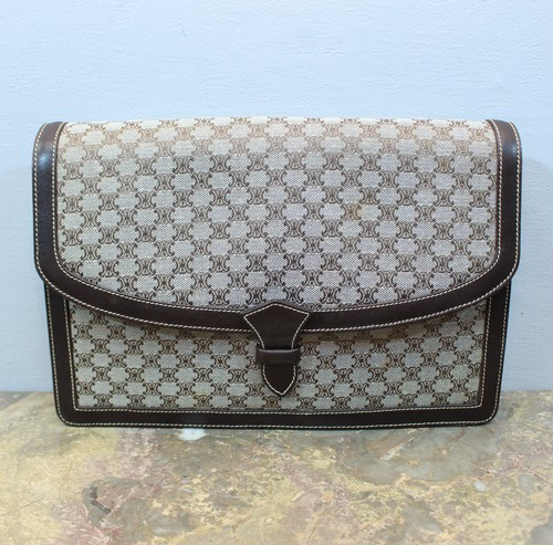 2000000026695 OLD CELINE MACADAM PATTERNED CLUTCH BAG MADE IN ITALY/オールドセリーヌマカダム柄クラッチバッグ