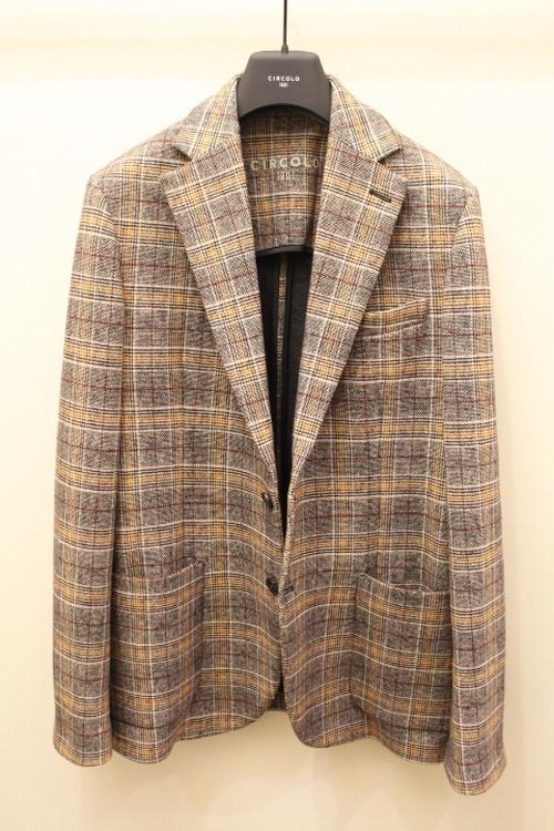 CIRCOLO 1901 Glen Check Jersey Jacket