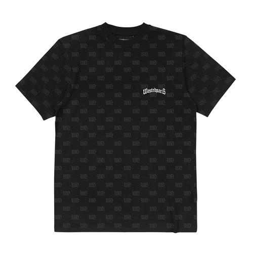 WASTED PARIS Monogram Signature T-Shirts BLACK