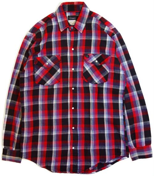 【M】 80s CODET スナップ ネルシャツ | アメリカ ヴィンテージ 古着