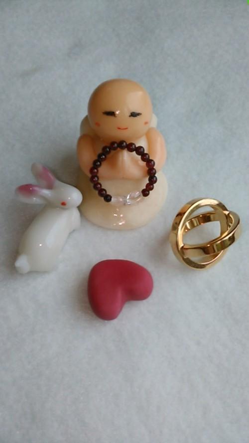 天然石指輪 変わらぬ愛情と深い絆☆ガーネットAAと天然水晶AA