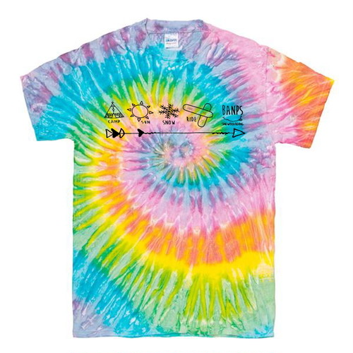 SHORT SLEEVE Tshirt TieDye MK (2.Pastel/Black) bp-45