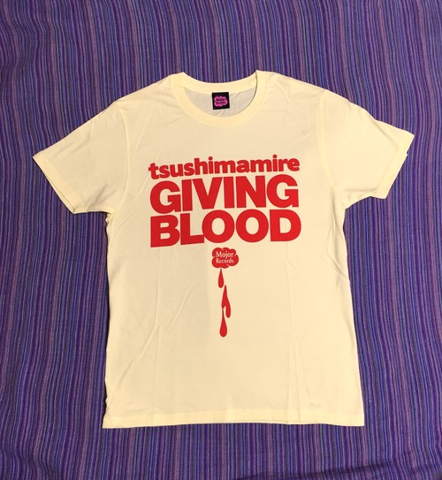 GIVING BLOOD Tシャツ 黄
