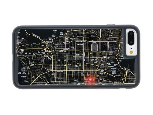 FLASH 京都回路地図 iPhone7/8Plus ケース 黒  【東京回路線図ピンズをプレゼント】