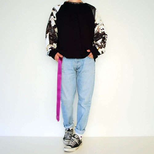 FRANÇOISE Pullover with printed sleeves