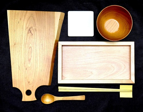 【木製テーブルウェアallセット】計6点