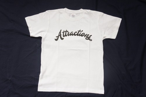 Attractions Logo S/S Tee(Body:White, Print:Black)