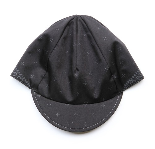 """velo spica"" cross bandana cap  col.black(ash grey)"