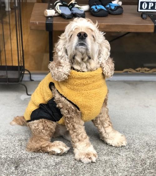ボアベスト 中型犬用 胴回り60cm サイズ違いオーダー可能 大型犬用 防寒
