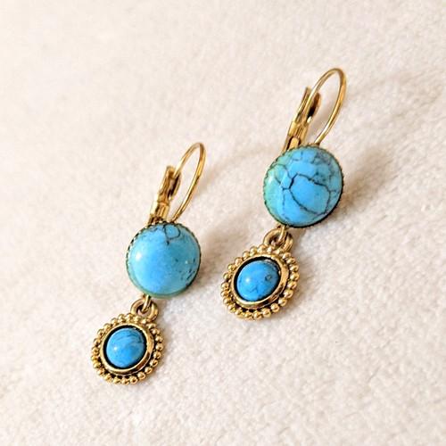 Turquoise pierce customized vintage