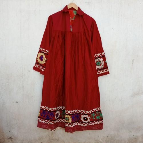 Vintage タジキスタン スザニ刺繍のプルオーバーワンピース