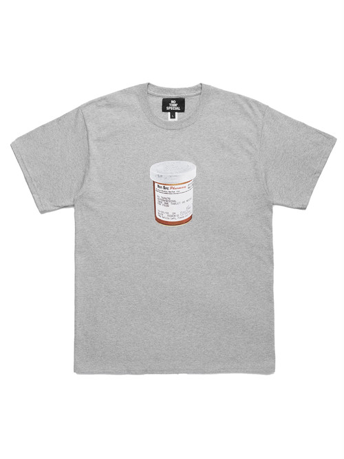 NOTHIN'SPECIAL / PILL CASE TEE -HEATHER GREY-