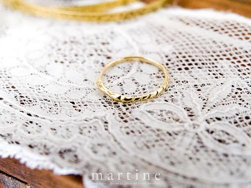 martine K18ゴールドリング Tsunagaru Ring/ツナガルリング