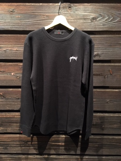 Gentemstick  HAND LOGO Thermal L/S Shirt  Black