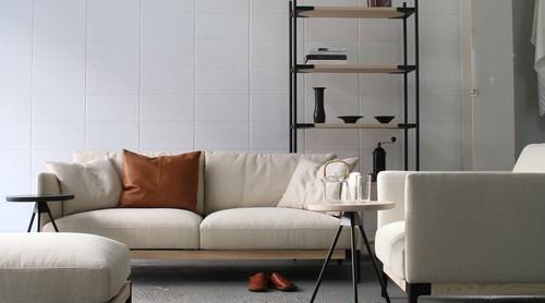 dual sofa 2P(fabric) - Walnut