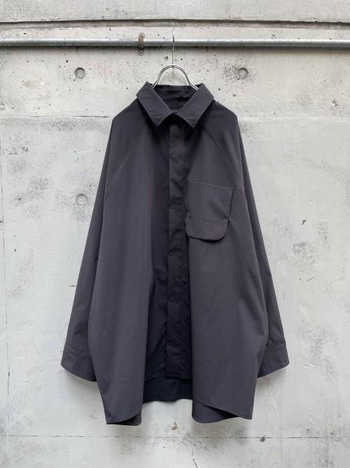 『my beautiful  landlet』teckno raglan shirt / BLACK