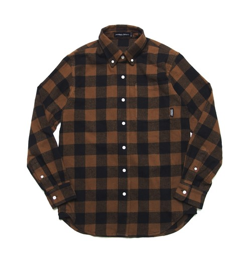 FLANNEL NICE BLOCK CHECK SHIRT M316202 BROWN