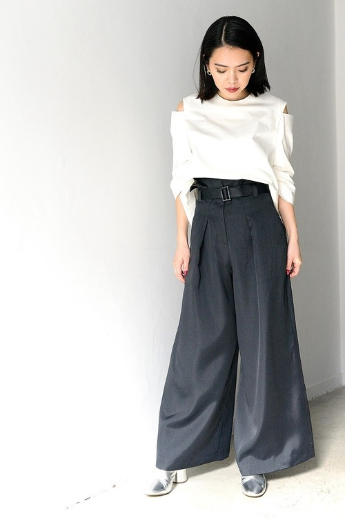 ROOM211 / High wasit wide pants