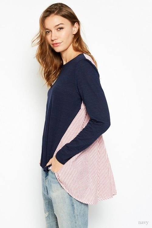Two Toned LS Top(Ladys)