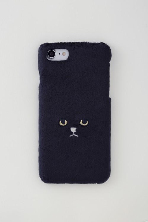【新生地】ネコiPhone6/6s&7&8ケース【ブラック】