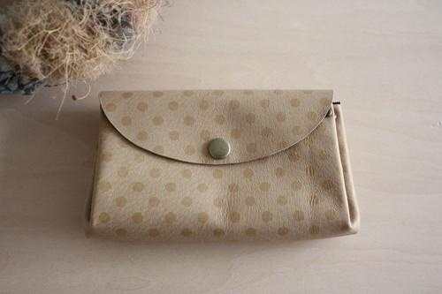ピッグスキンの小さなお財布 みずたまベージュ
