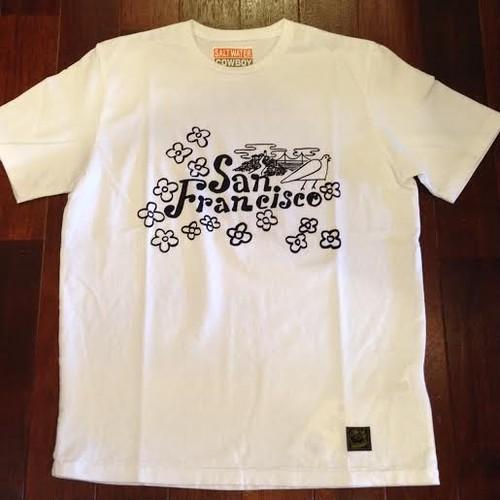 "SALTWATER COWBOY / ソルトウォーターカウボーイ | "" SanFrancisco "" T-Shirts / White"