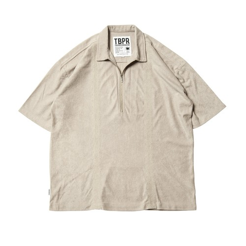 TIGHTBOOTH ENCORE HALF ZIP SHIRT BEIGE  タイトブース