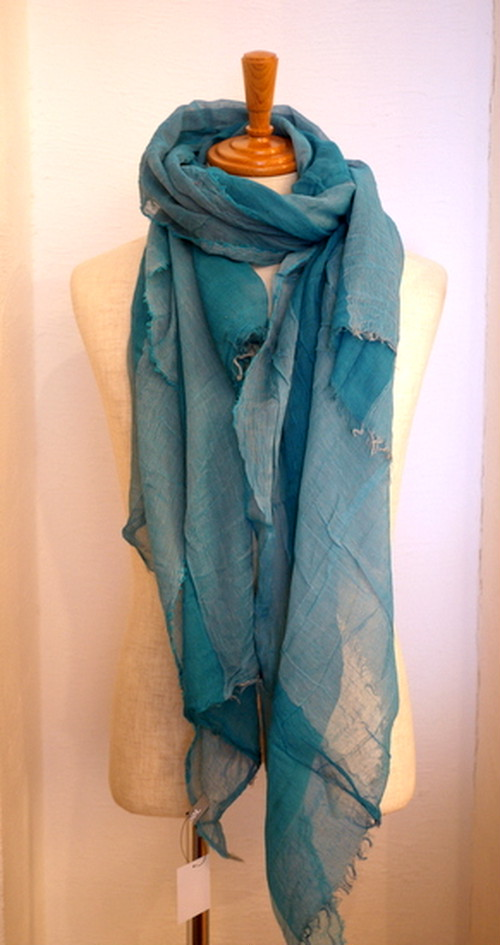 Two Tone Linen Stole TealBlue