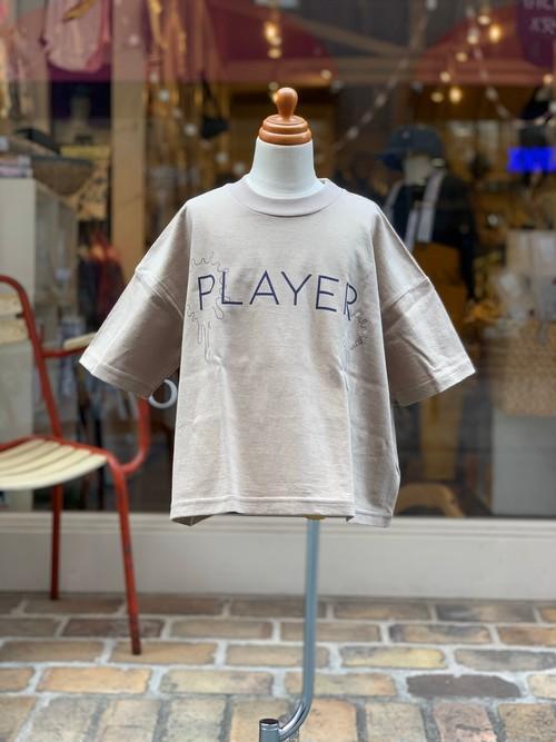 KIDS:nunuforme【ヌヌフォルム】PLAYERプリントT(Beige/95〜145cm)Tシャツ