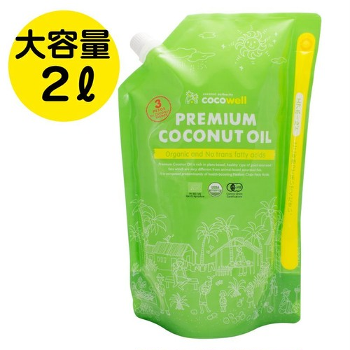 有機プレミアムココナッツオイル 1,840g