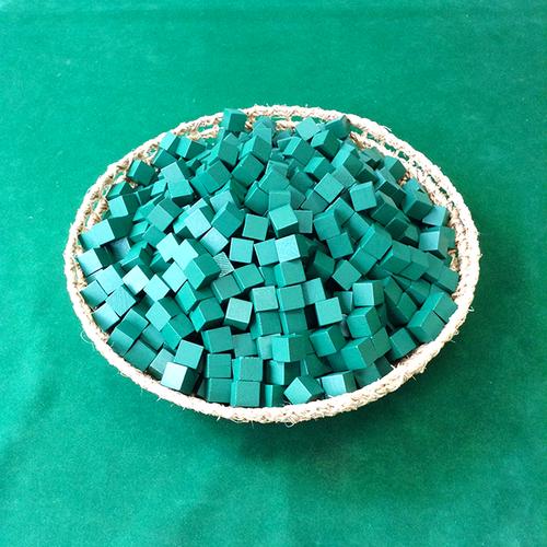 緑14mm木製キューブ(約1000個)