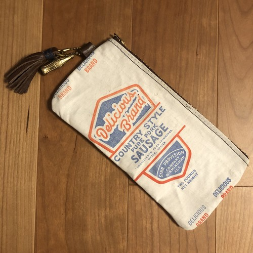 "40's Sausage Sack Pouch, ""Delicious Brand"""