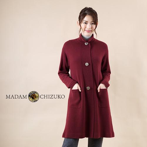 MADAM CHIZUKO /ハイネックコート / カシミヤ100%(イタリア糸使用)