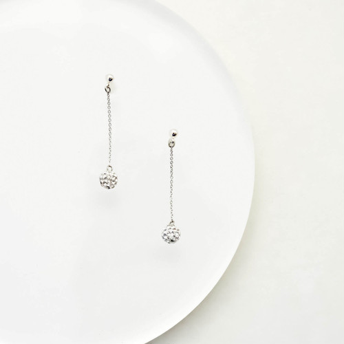 Swarovski Crystal Ball chain Pierces