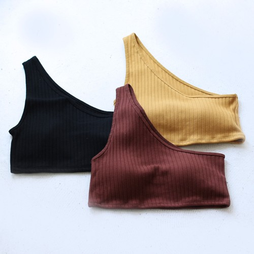 【DOMENICO+SAVIO】 ONE SHOULDER BRA TOP