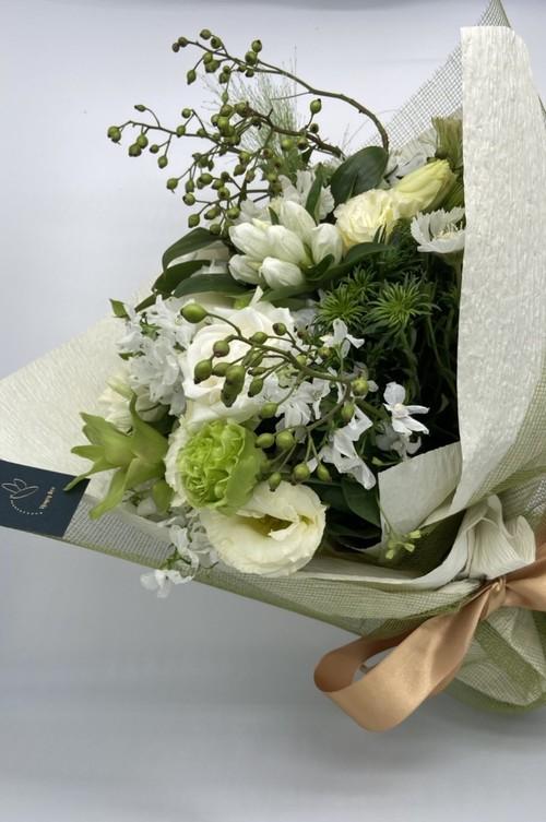 ご来店専用 bouquet ブーケ Mサイズ (ホワイト・グリーン系)