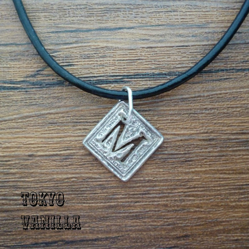 """Initial necklace """"M"""" - silver Marie"""