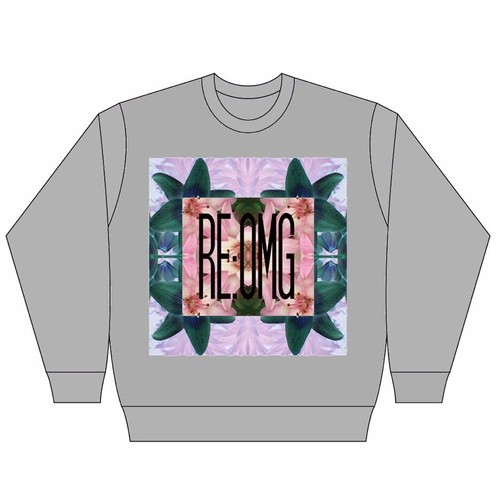 FLOWER PATTERNS SWEAT-GRAY-