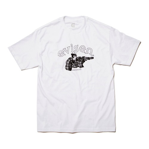 EVISEN  DIRTY EVI TARO WHITE L エビセン Tシャツ
