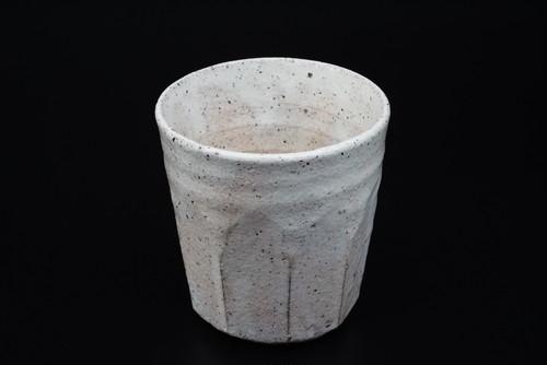 北海粉引き面取り焼酎カップ