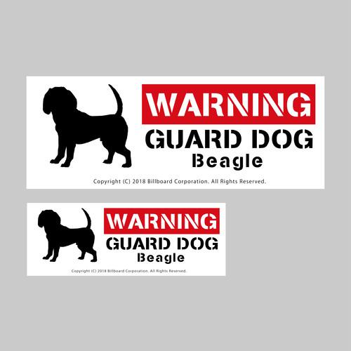 GUARD DOG Sticker [Beagle]番犬ステッカー/ビーグル