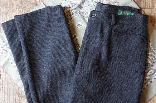 early 90's J.CREW tweed twill wool Pants