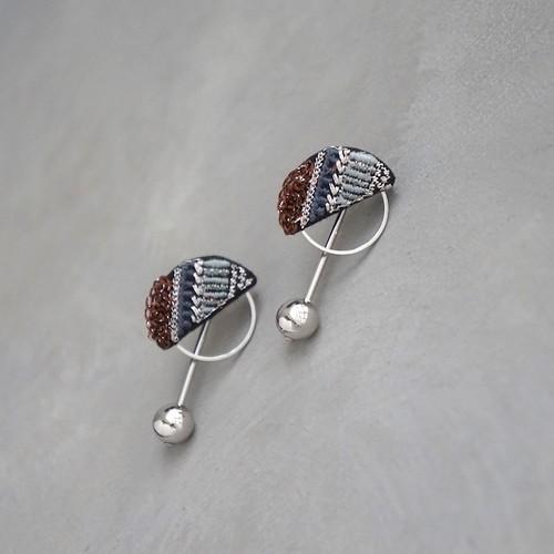 pierced earrings C-P41/earrings C-E41<silver>